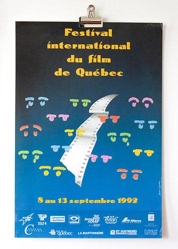 Poster Festival international du film de Québec 1992