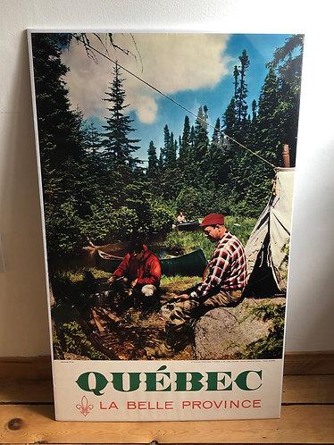 Affiche Québec La Belle Province 1960s - Au pays du gros gibier