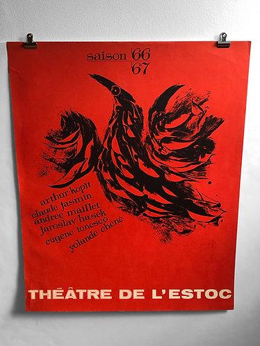 Poster Théâtre de l'Estoc saison 66-67