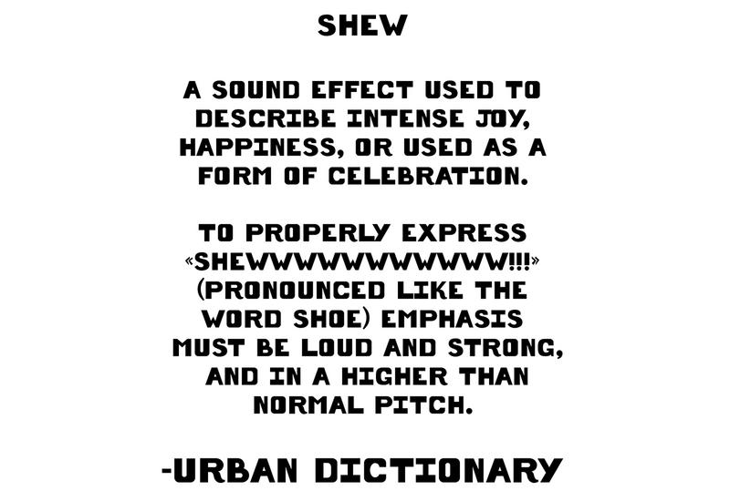 Shew - Definition