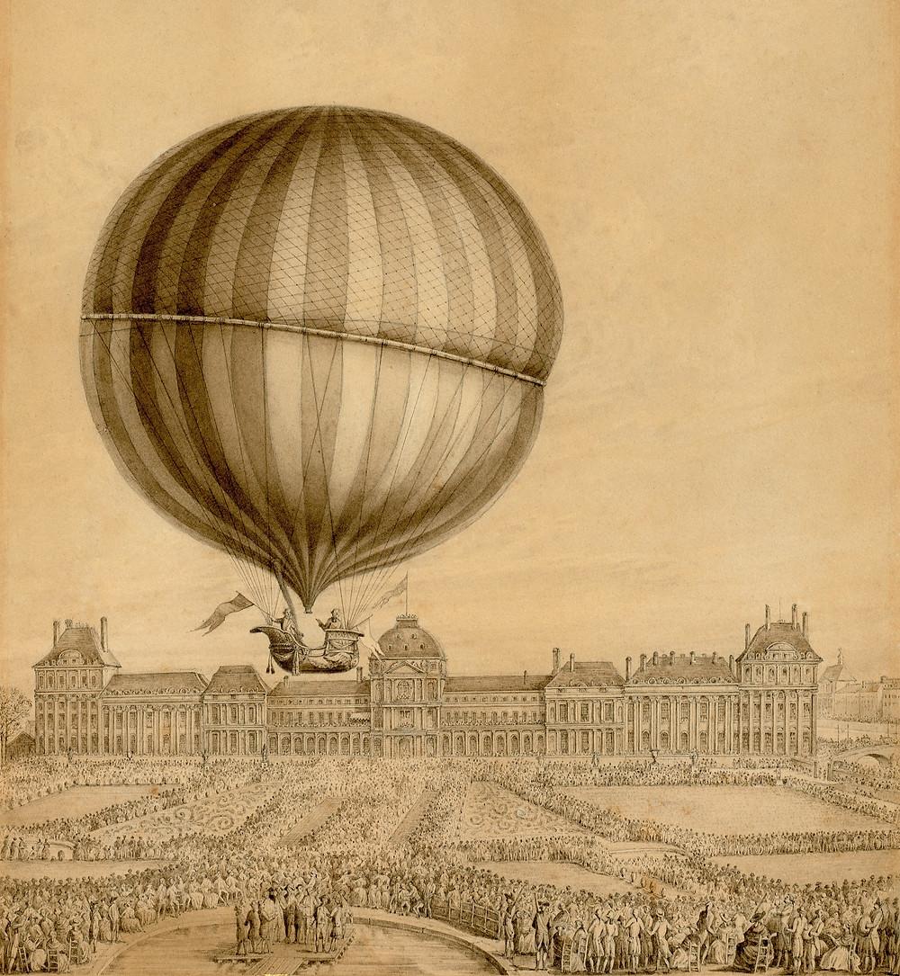 1783年首次氫氣球載人飛行