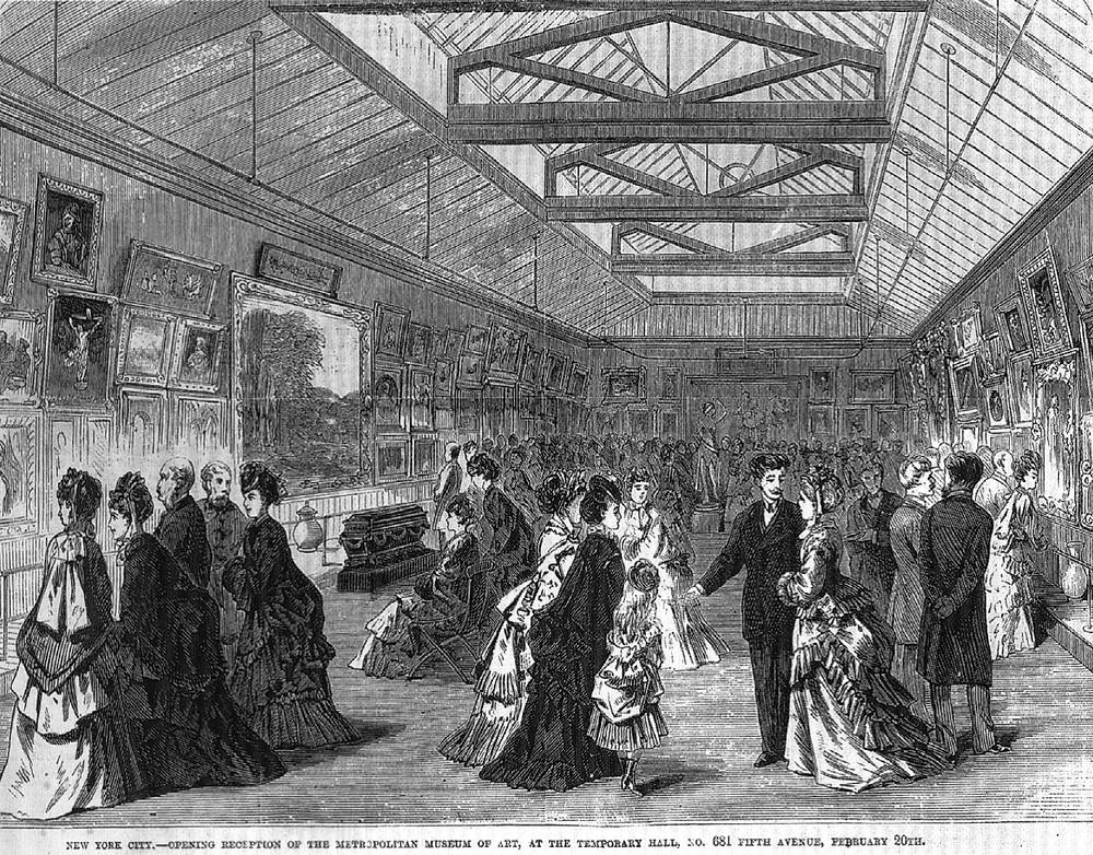 1872年2月20日博物館在第5大道681號的開幕的情況。