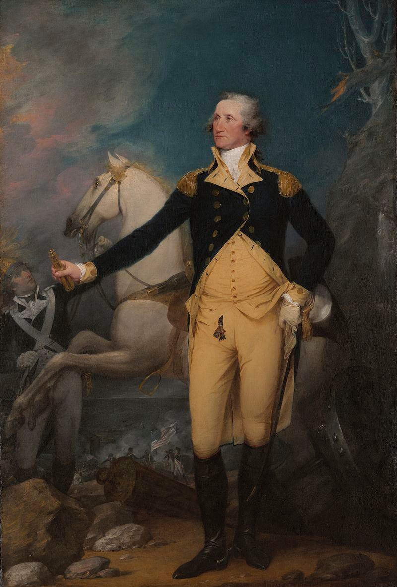 阿孫平克溪戰役后在翠登的喬治·華盛頓將軍