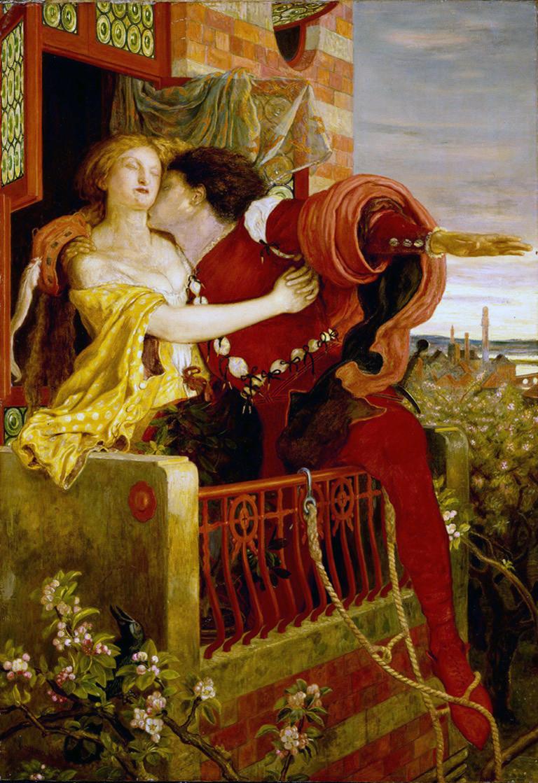 「羅密歐與茱麗葉」,福特·布朗繪,1870年。
