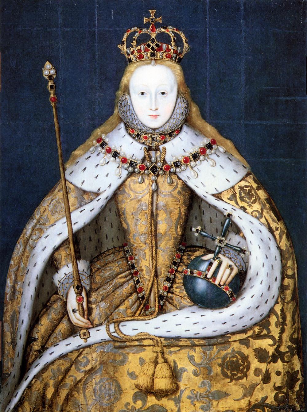 身著加冕禮禮服的伊莉莎白一世