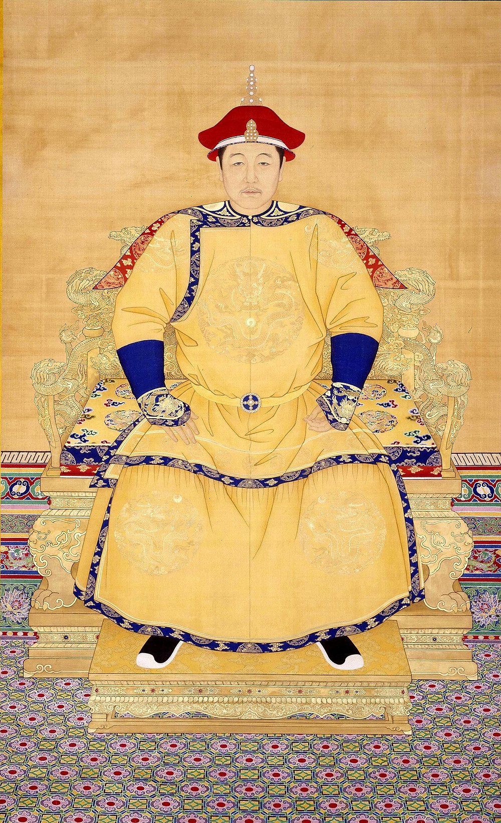 乾隆年製大清世祖章皇帝朝服像