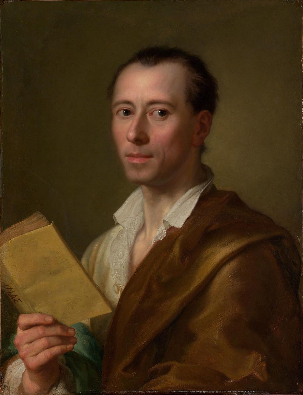 拉斐爾·門斯所繪溫克爾曼肖像