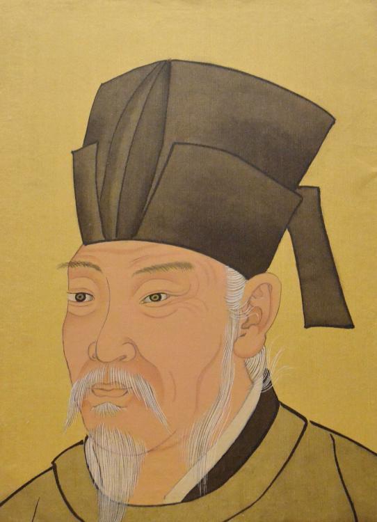 清宮殿藏本白居易畫像