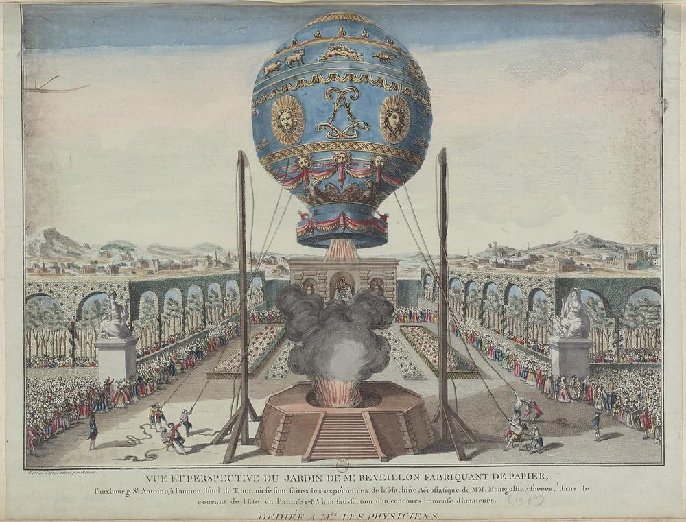 1783年9月19日的氣球飛行實驗