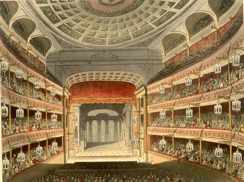 1810年的英國皇家大劇院內部