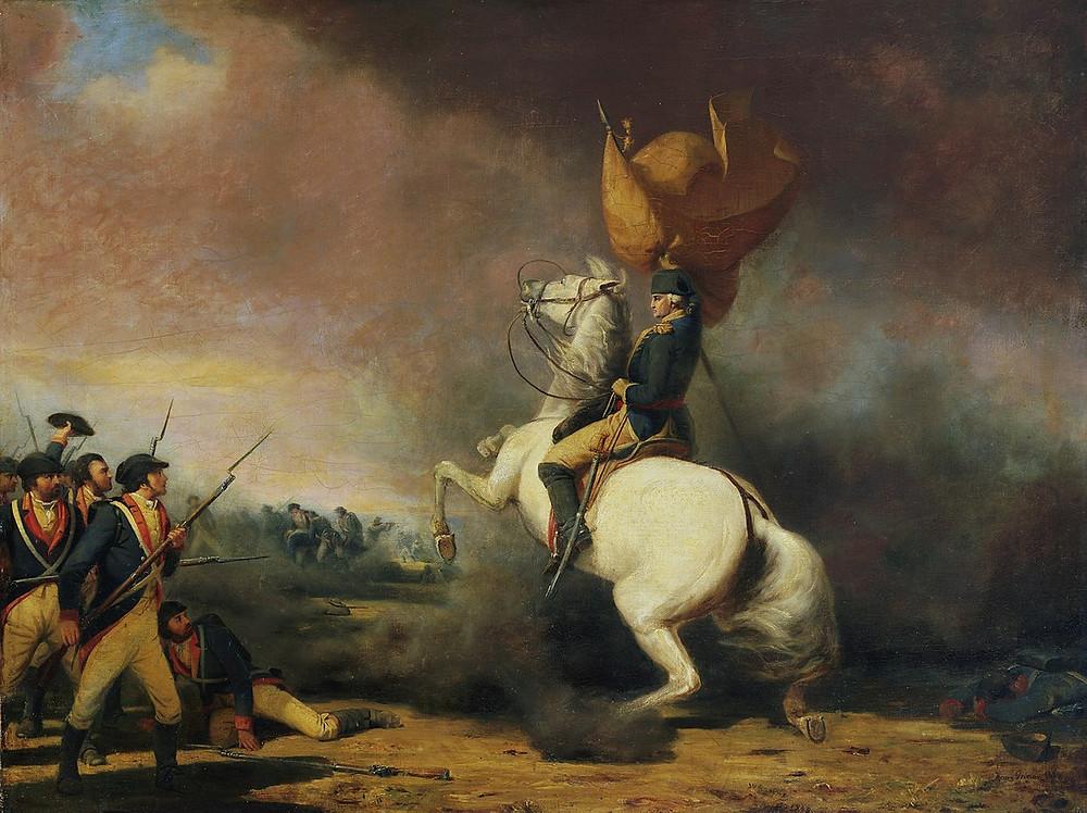 華盛頓將軍參加普林斯頓戰役
