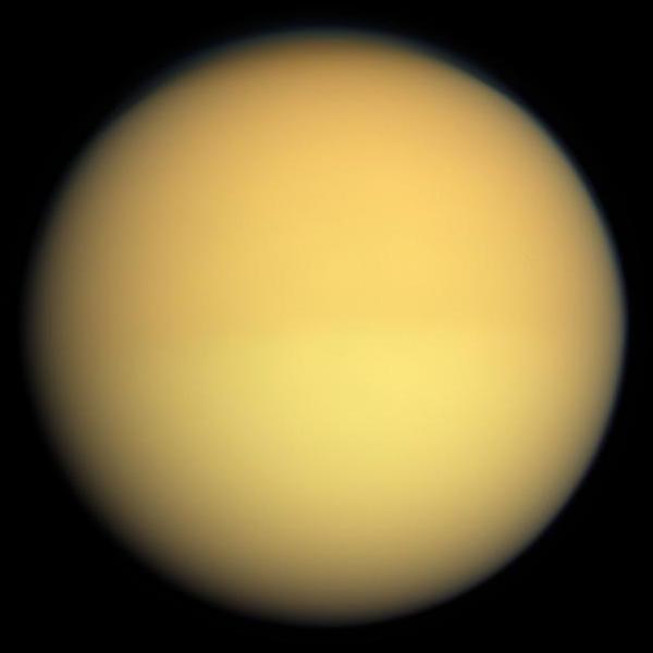 卡西尼-惠更斯號拍攝到真實色彩的土衛六