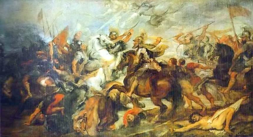 《伊夫里戰役中的亨利四世》,彼得·保羅·魯本斯繪