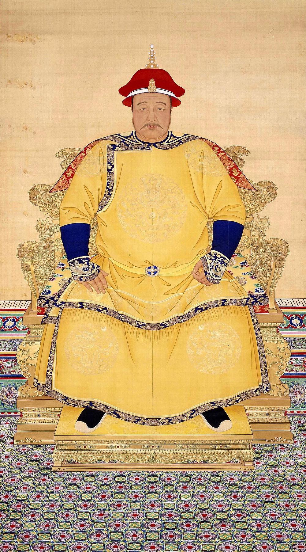 清太宗文皇帝朝服全身像