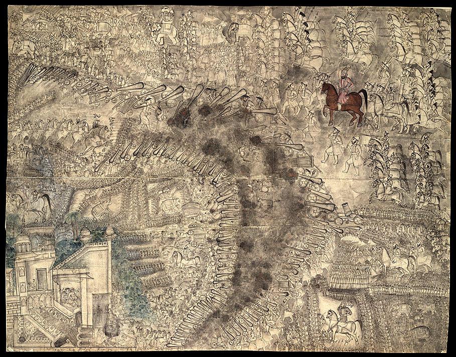 第三次帕尼帕特戰役,圖中騎棕色馬者為艾哈邁德·沙阿·杜蘭尼