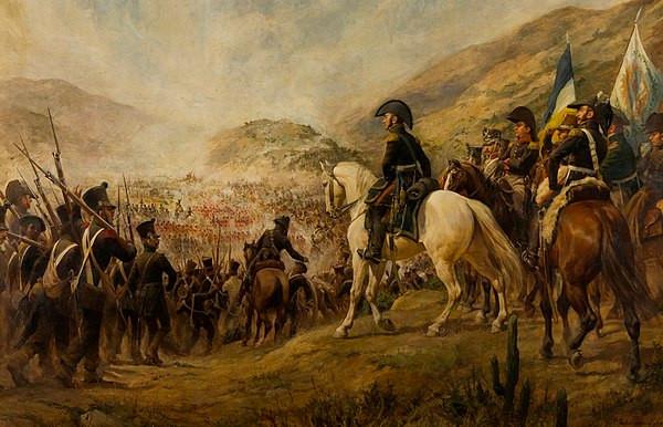 1817年智利獨立戰爭中,愛國者部隊邁向查卡布科戰役