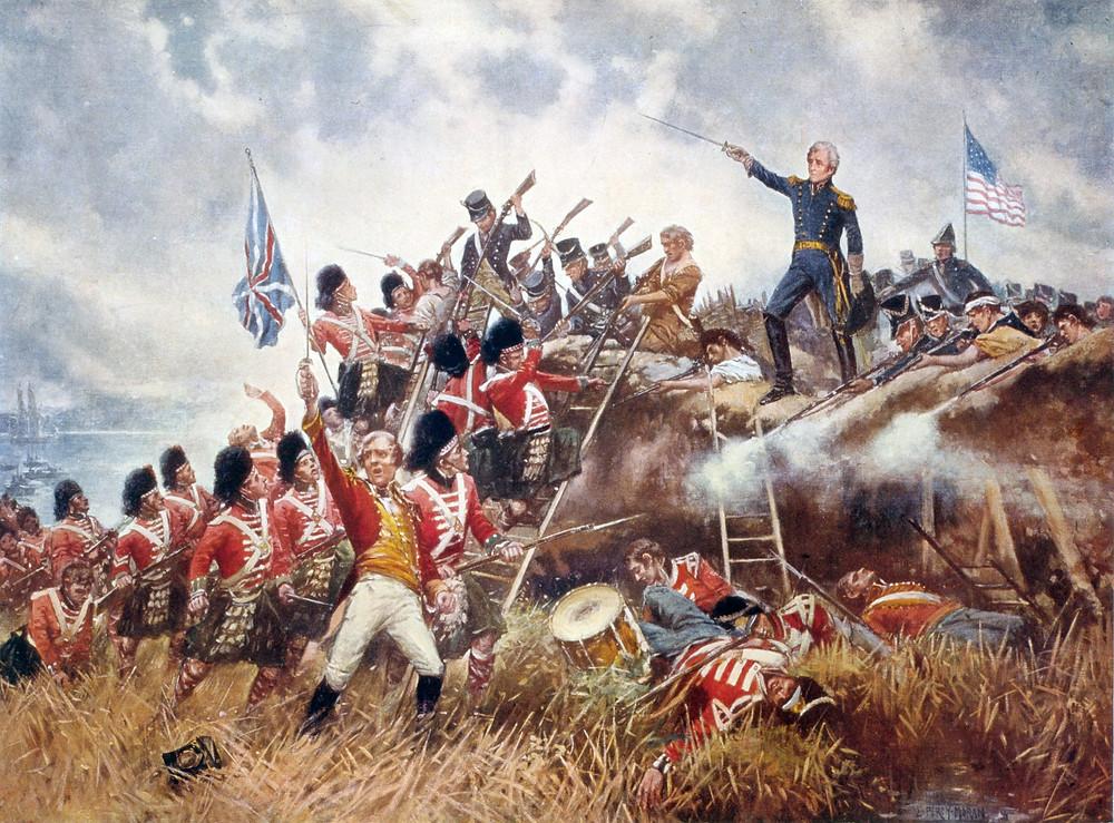 紐奧良戰役,由愛德華·波西·莫蘭繪於1910年