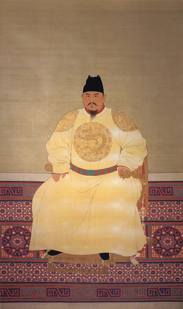 明太祖袞龍袍像