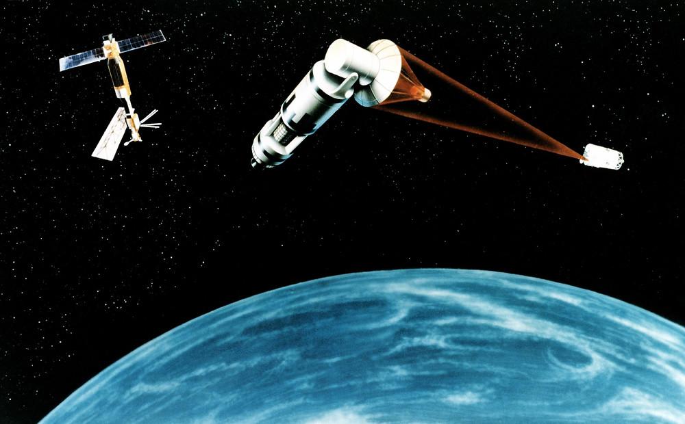 星戰計畫太空雷射攔截概念