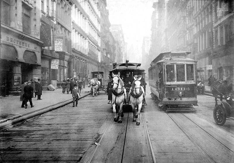 1917年紐約最後一台馬拉有軌車