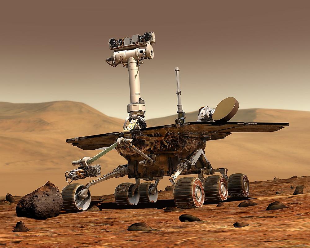 勇氣號火星探測器(假想圖)