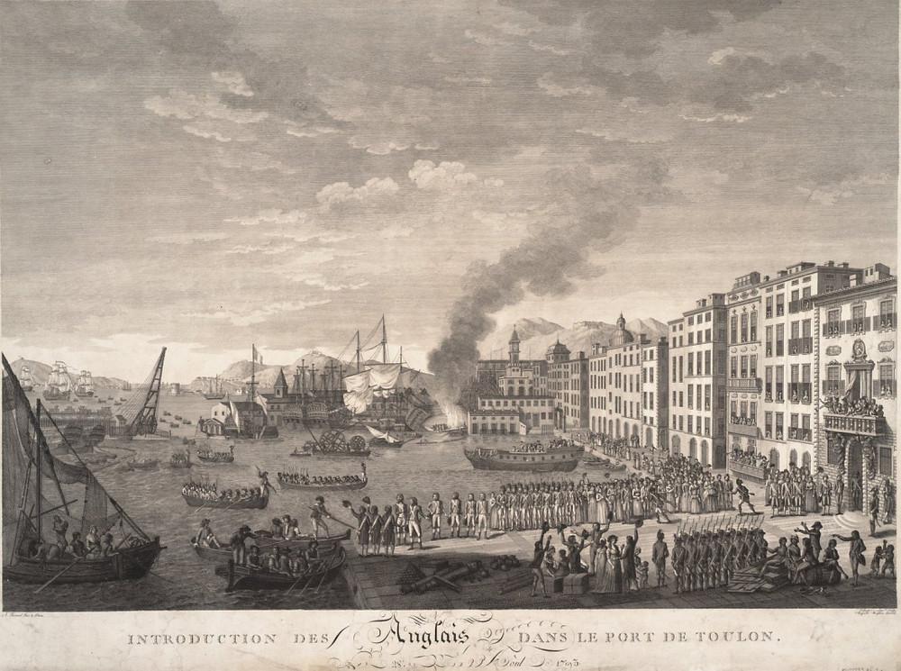 1793年,英西聯合艦隊進駐土倫。