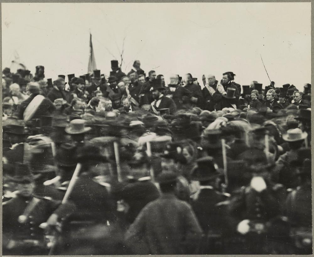 美國總統林肯在蓋茲堡演說