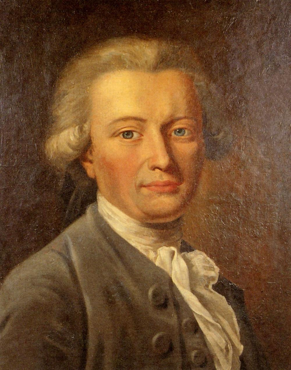 1781年由蒂施拜恩所繪福斯特26歲時的畫像