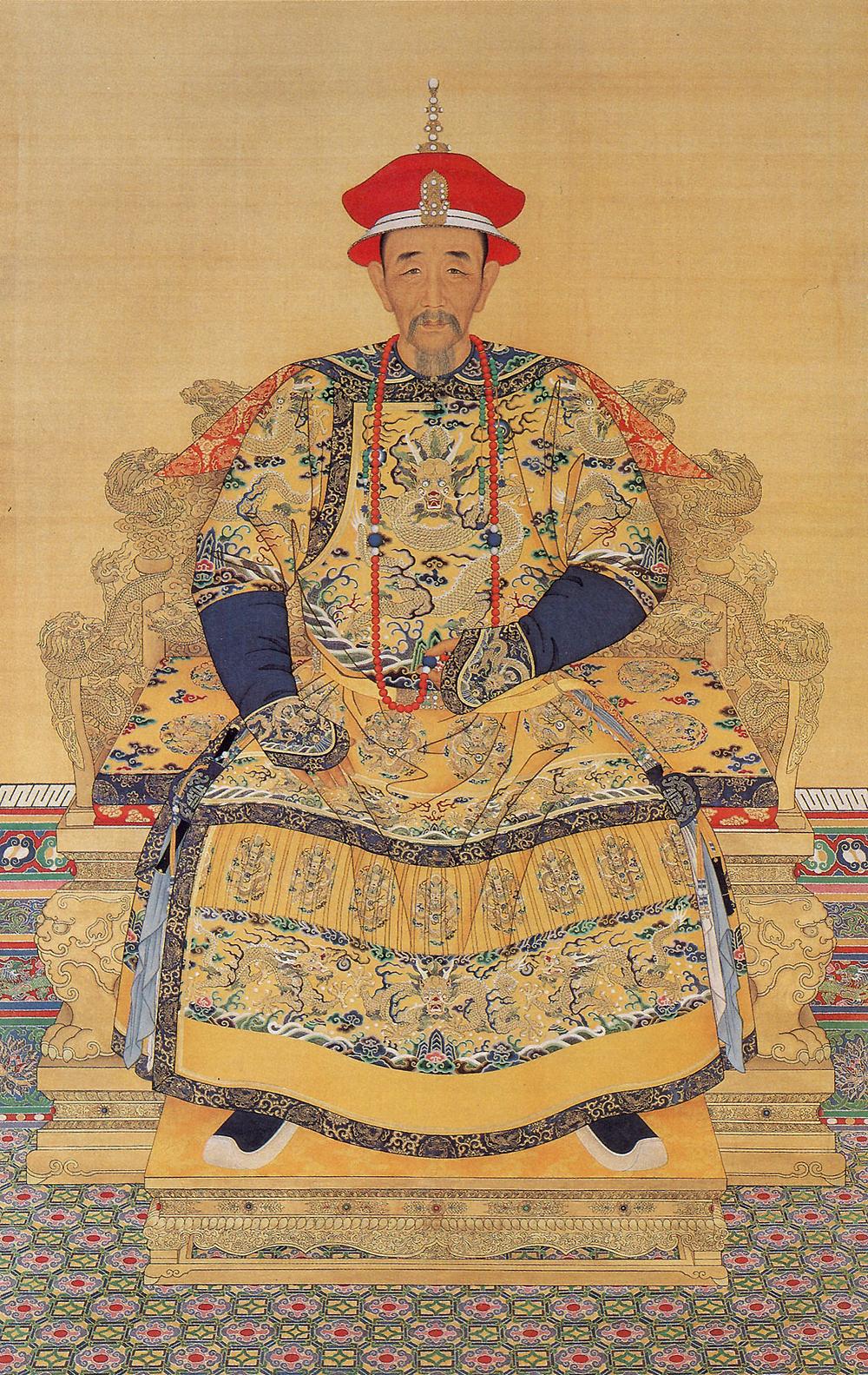 康熙皇帝朝服全身像