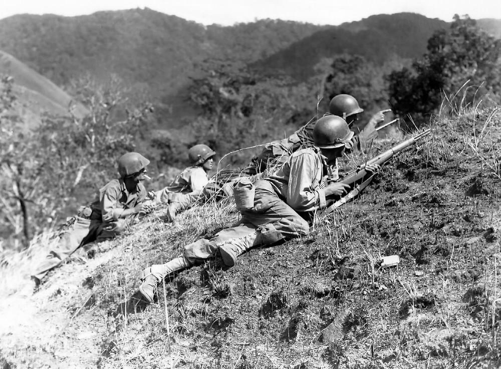 美軍攻擊日軍在碧瑤之據點