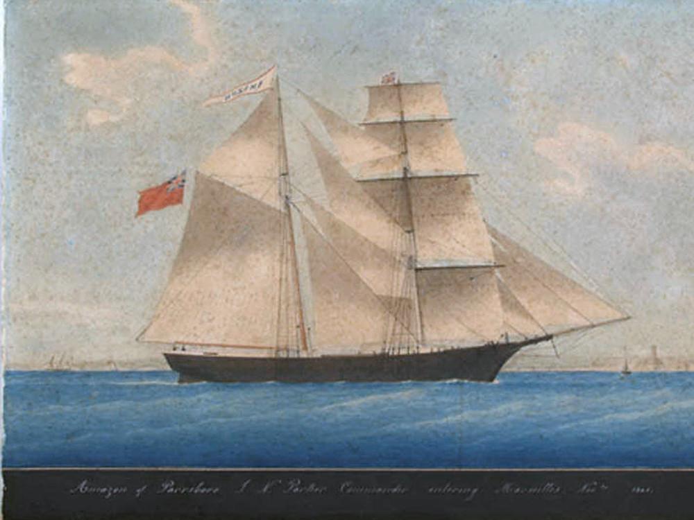 1861年由畫家所繪的瑪麗·賽勒斯特號