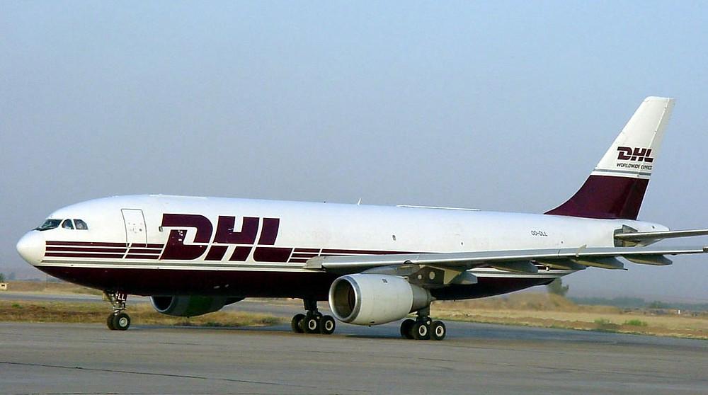 在事件中遇襲的DHL空中巴士A300貨機
