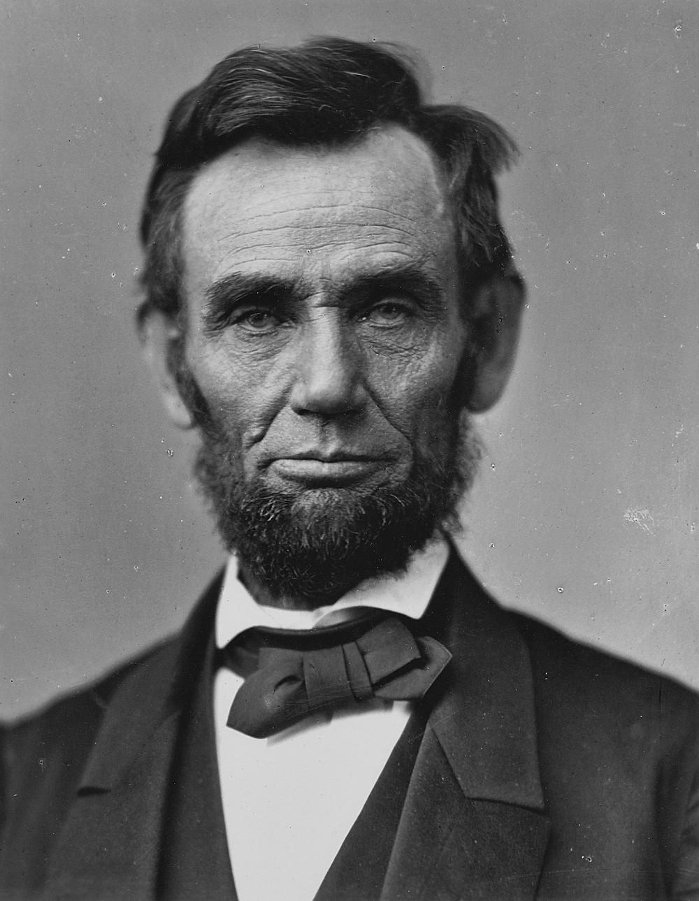 1863年林肯肖像,時年54歲。