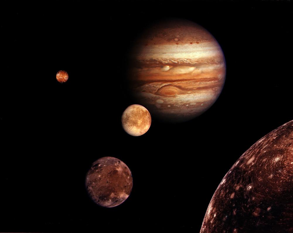 木星及其四顆最大的衛星