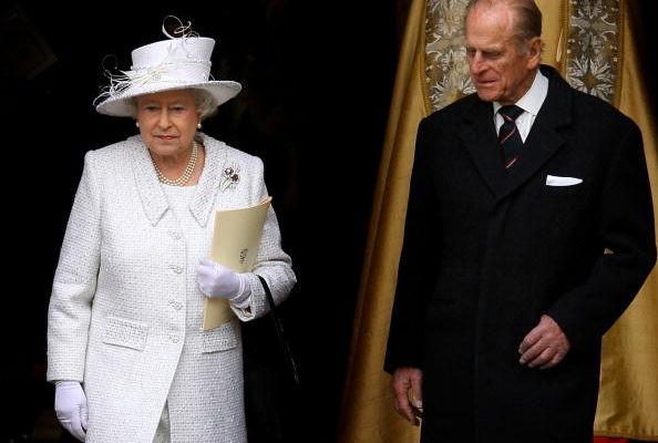 英國女王和丈夫菲利浦親王参加感恩儀式慶祝結婚60周年。(Chris Jackson/Getty Images)