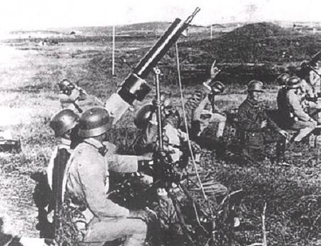 中國守軍的高炮陣地