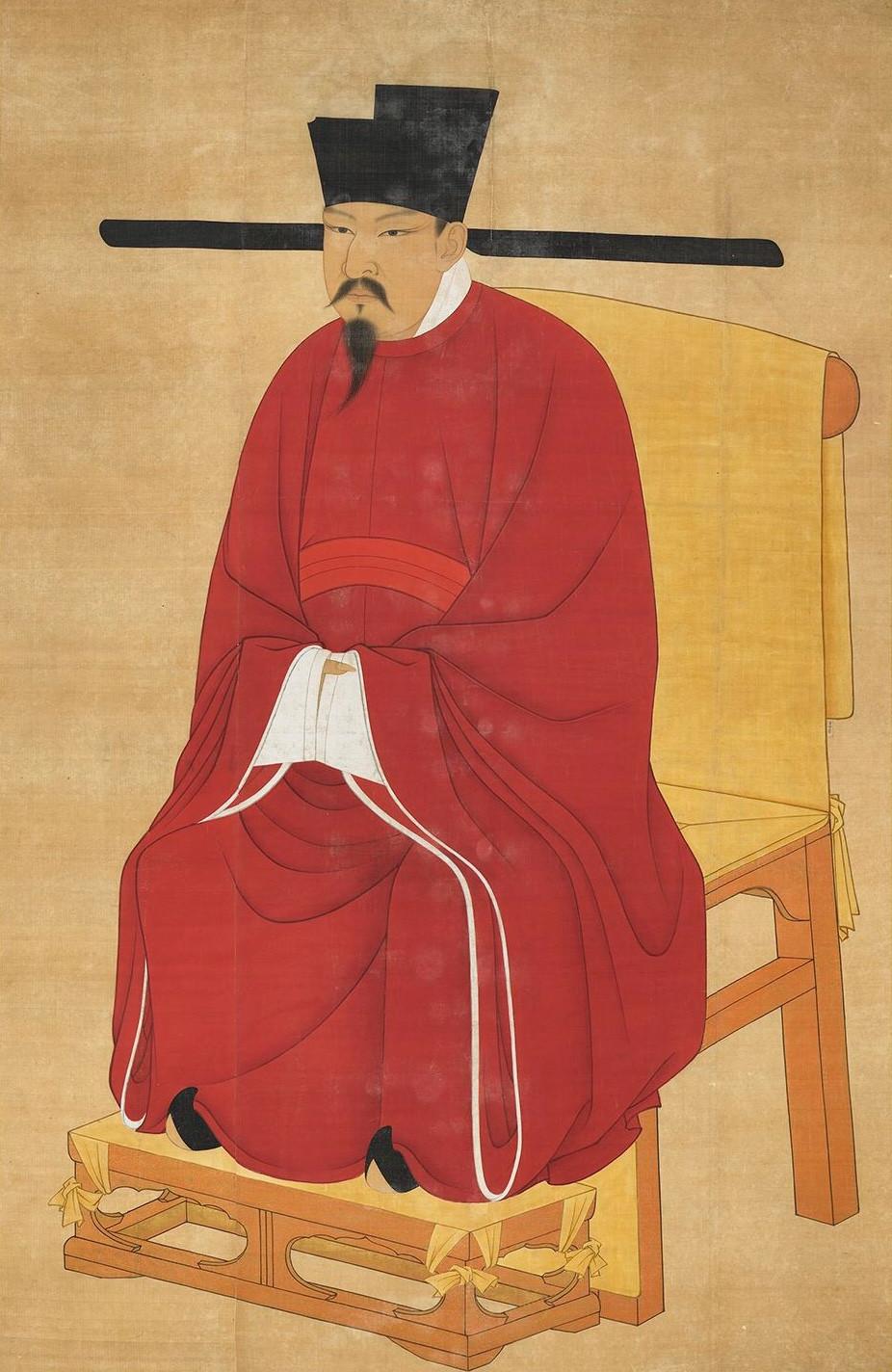 藏宋神宗聖孝皇帝肖像
