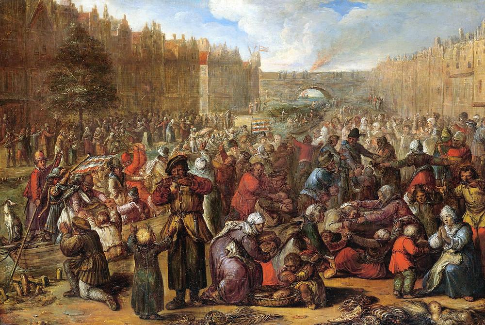 萊頓大捷 (1574), 荷蘭軍隊奪取西班牙的步兵陣地。