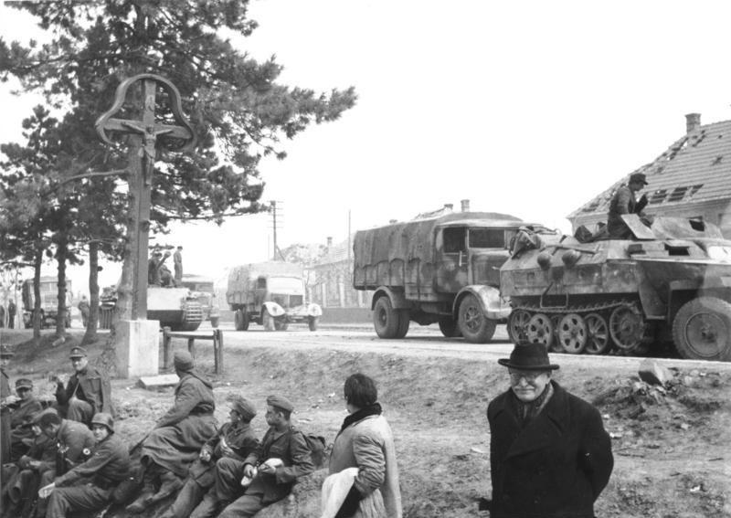 1945年3月,巴拉頓湖攻勢中的德軍單位