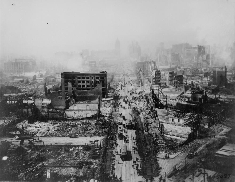 地震後的舊金山