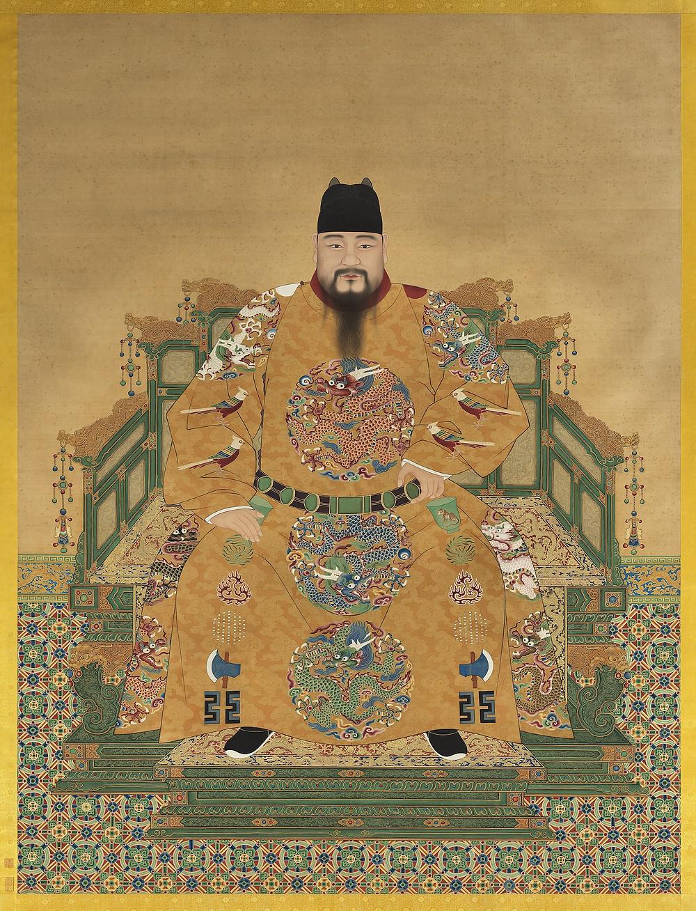 國立故宮博物院藏憲宗純皇帝御容