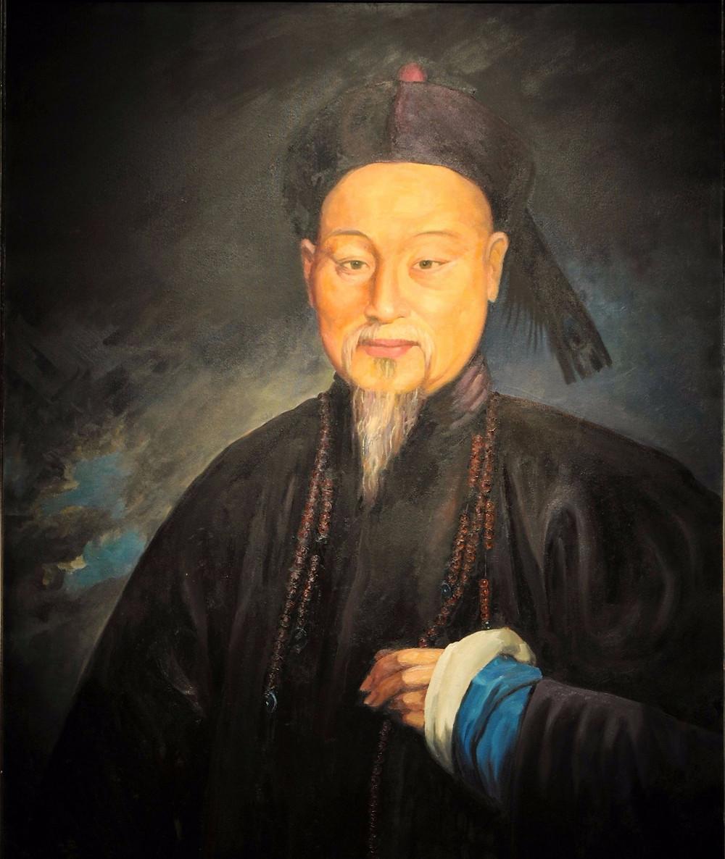 關喬昌所繪林則徐畫像,原件藏於美國波士頓美術館