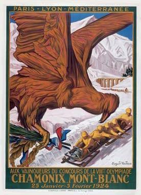 第一屆冬季奧林匹克運動會海報