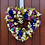 my wreath is handmade in wales using roses - a full door wreath, wreaths and hanger