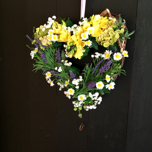 wild flower hand made wreath from making an entrance in wales present