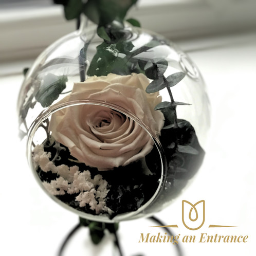 Single Infinity Rose Pendant