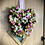 heart shaped wreath for a present or mothers day gift, hand made in wales