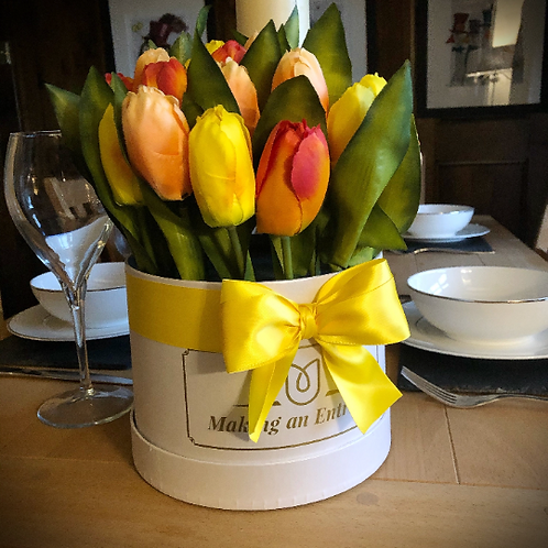 'Spring Sunshine' Large Bloom Box Bouquet of Tulips