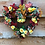 autumn glow front door wreath by making an entrance uk, made in our welsh, wales studio ideal gift for her heart rose frame h