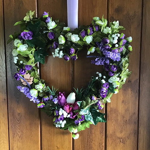 lavender door wreath hand made in our studio in wales, make your home sing with this gift